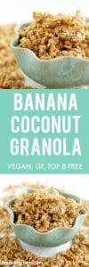 easy banana coconut granola