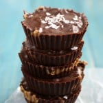 Deliciously easy and tasty sunbutter cups! These are rich and decadent and a treat that everyone can enjoy! #chocolate