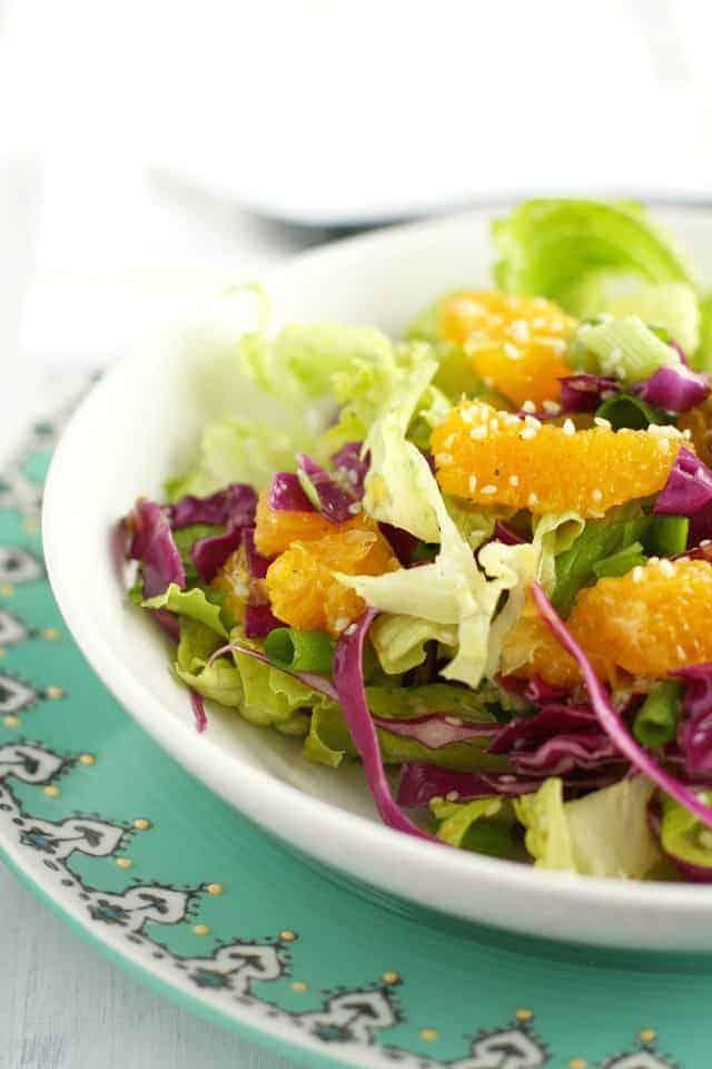 orange romaine sesame salad