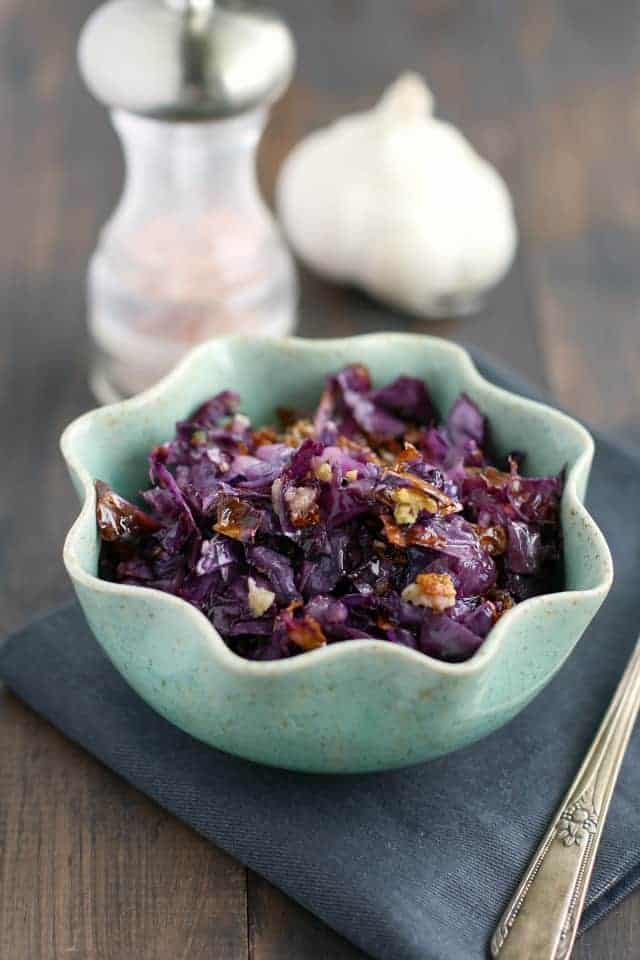 roasted red cabbage and quinoa