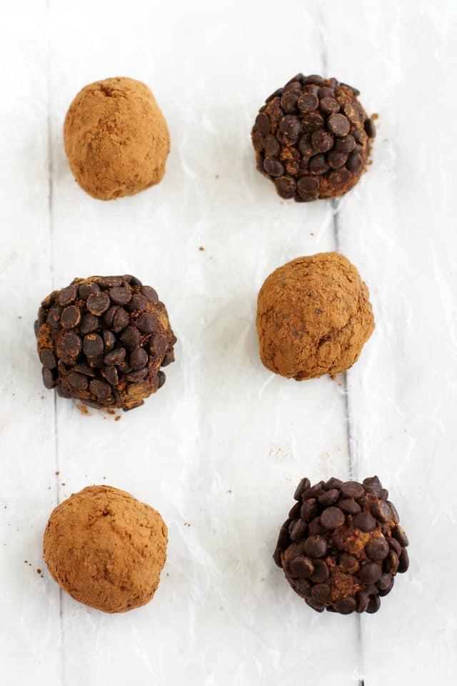 gluten free chocolate truffle energy bites