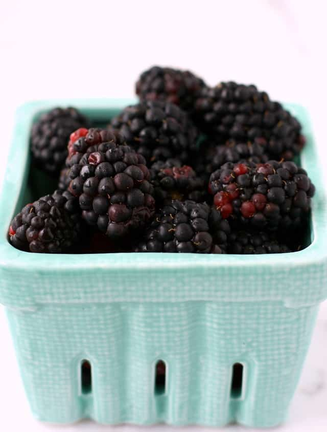 Antioxidant rich blackberries are perfect for making popsicles!
