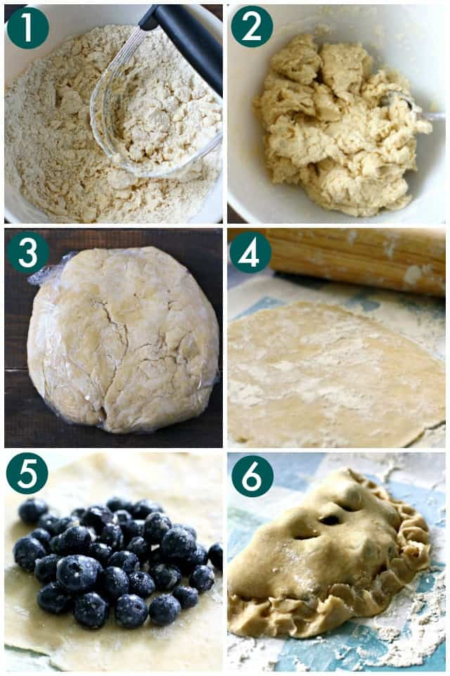 how to make blueberry hand pies