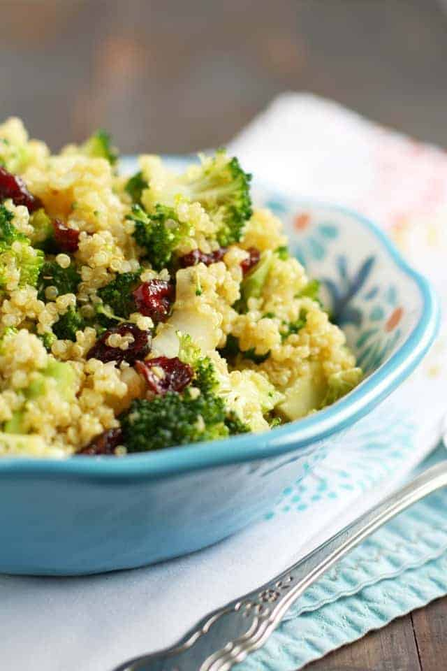 curried quinoa broccoli salad