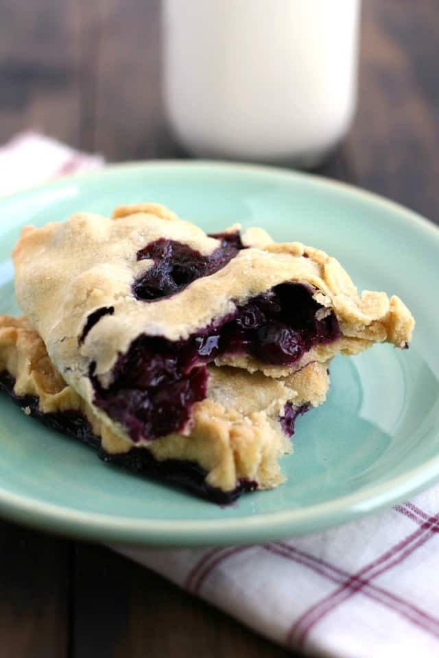 blueberry hand pie on a plate
