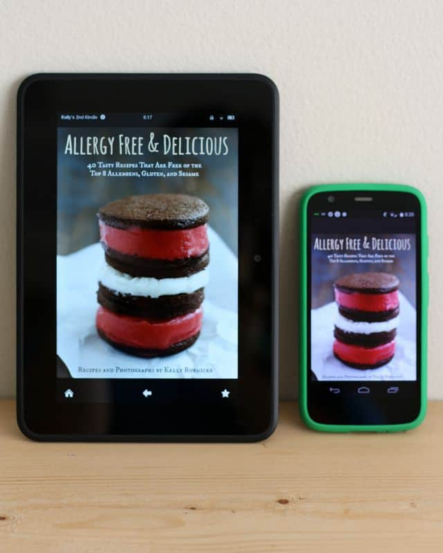 Allergy Free and Delicious - a new allergy friendly ebook available from theprettybee.com