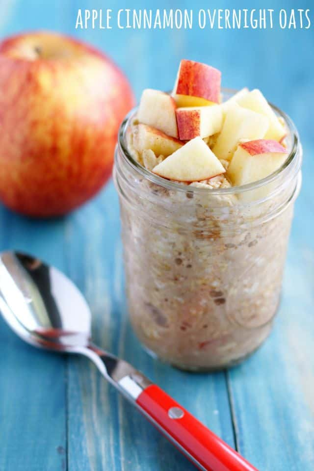 Tasty apple cinnamon overnight oat recipe from the ebook Allergy Free and Delicious.