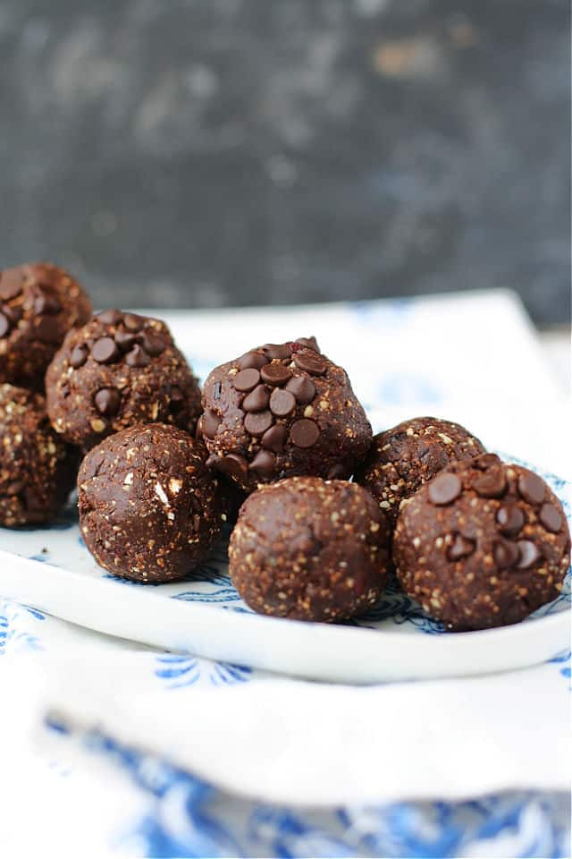 chocolate cherry energy balls