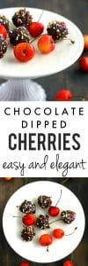 Simple, delicious, and elegant chocolate dipped cherries are a perfect no-bake dessert.