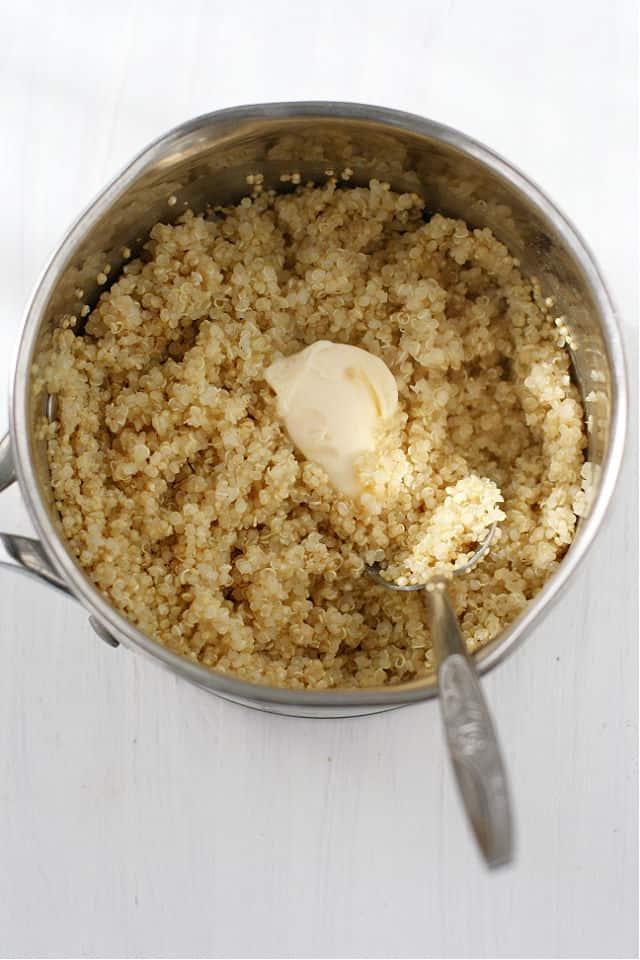quinoa in a pan