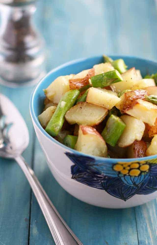 vegan roasted potato salad