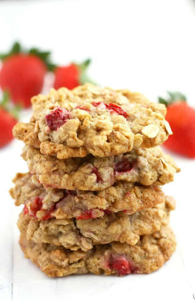 strawberry oatmeal cookies