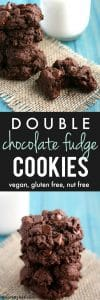 Decadent gluten free double chocolate fudge cookie recipe