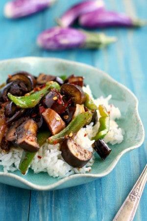 vegan eggplant stir fry recipe