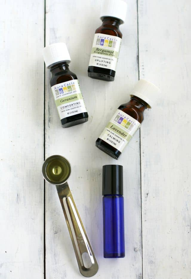 An easy DIY with essential oils - stress relief roll-on oil blend.