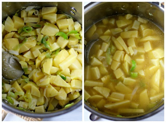 how to make dairy free potato leek soup