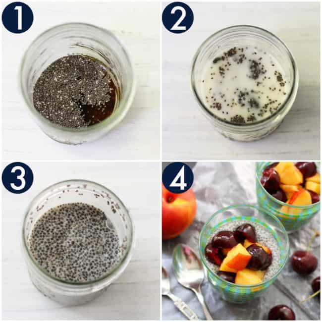 how to make vegan chia seed pudding