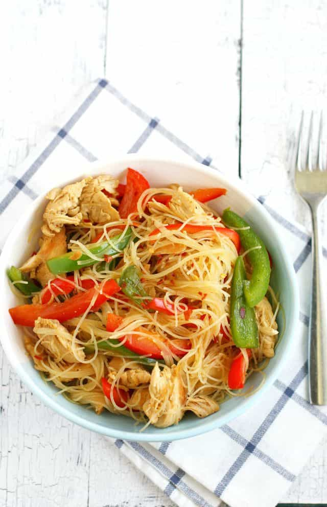 chicken teriyaki rice noodles