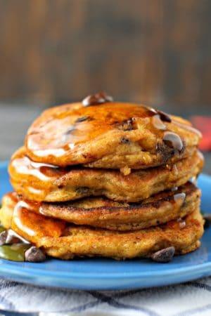 easy vegan pumpkin pancakes