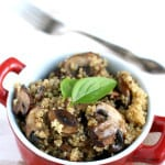 Garlic mushroom quinoa...this is my FAVORITE way to eat quinoa! So much flavor is packed into each and every bite.