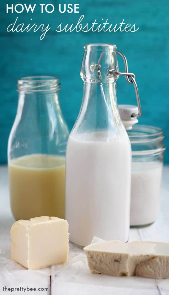 How to use dairy substitutes