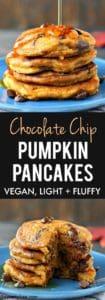 light and fluffy vegan pancakes