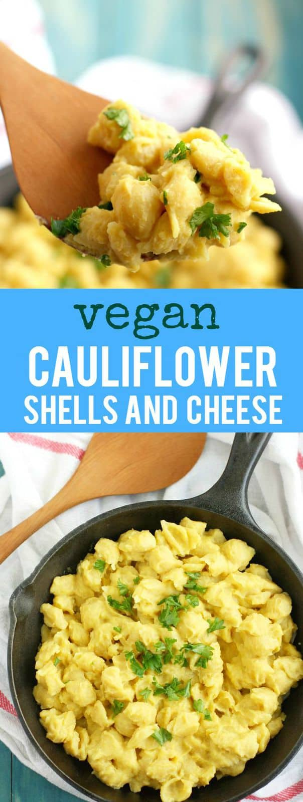 Shells and cheese made with a creamy cauliflower sauce. This is easy to make and full of plant based nutrition!