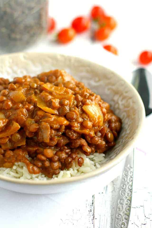 slow cooker lentil curry