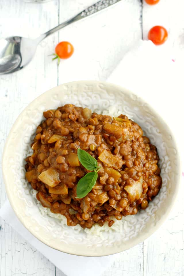 dairy free lentil curry