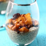 A delicious and easy breakfast option - vanilla chia seed pudding with a warm apple cinnamon topping. AD
