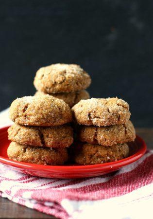 gluten free pumpkin spice molasses cookies