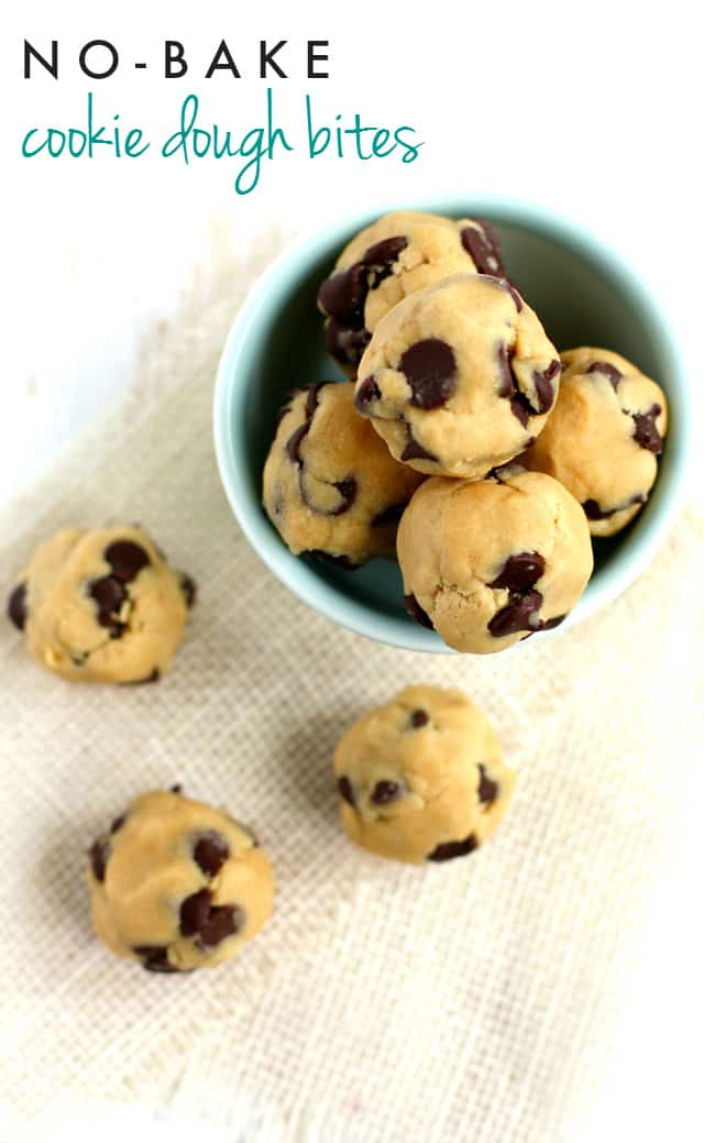 Vegan Chocolate Chip Cookie Dough Bites The Pretty Bee
