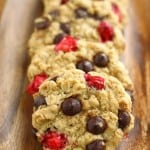 Chocolate Chip Oatmeal Cookies with Fresh Cranberries.
