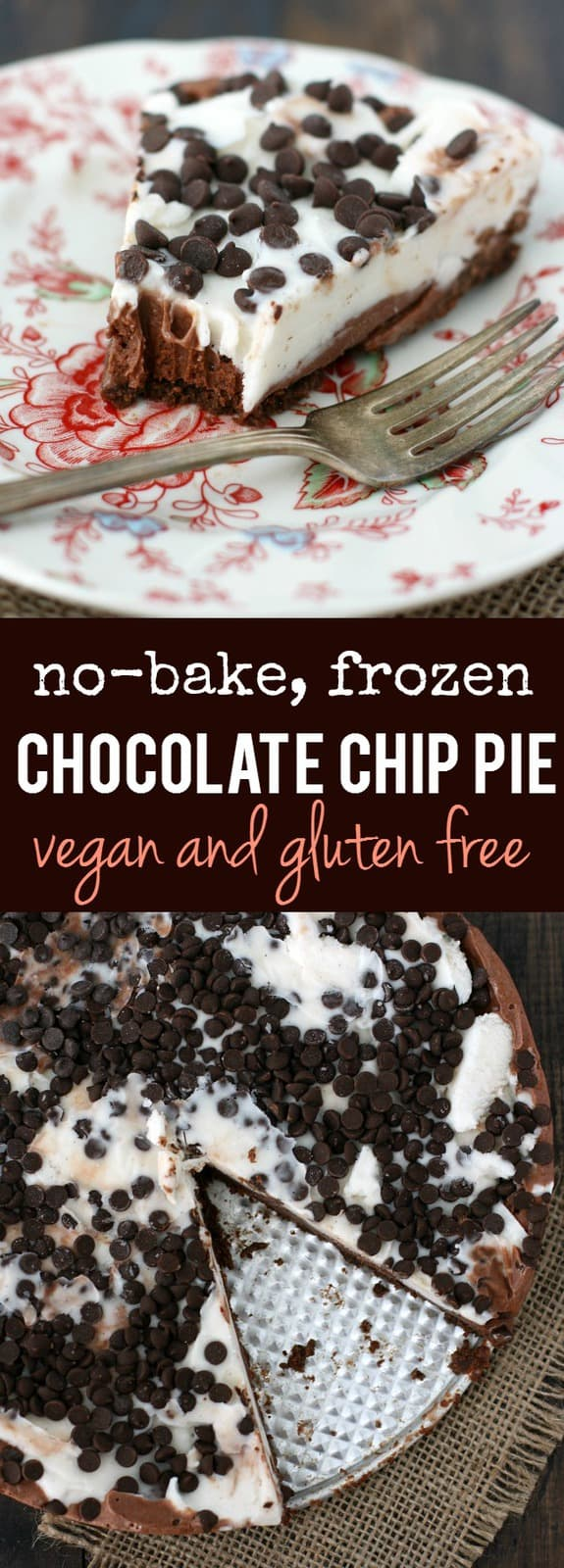 A creamy dairy free frozen pie with a cookie crust is a treat that everyone can enjoy! #glutenfree #shop ad #dairyfree4all