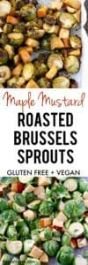 maple mustard roasted sprouts