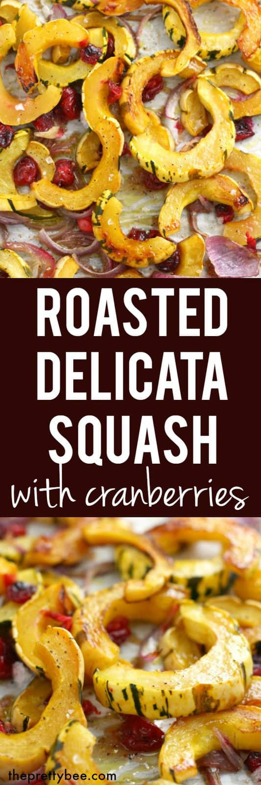 A simple and delicious roasted delicata squash recipe - this is a tasty gluten free and vegan side dish that's great for Thanksgiving! #vegan #glutenfree #thanksgiving