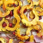 Roasted Delicata Squash with Fresh Cranberries.
