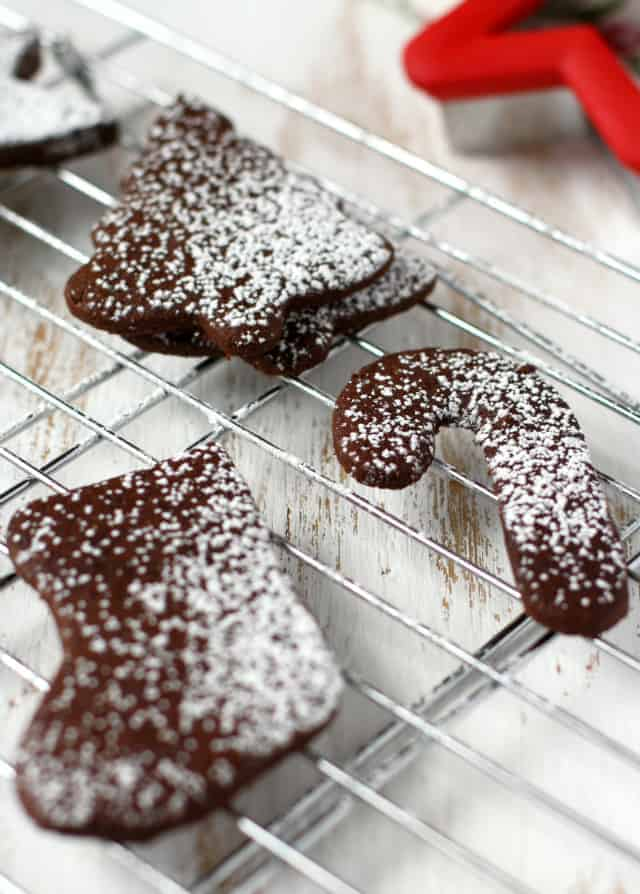 gluten free chocolate sugar cookies