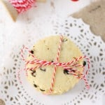 Lemon Currant Butter Cookies (Gluten Free and Vegan).