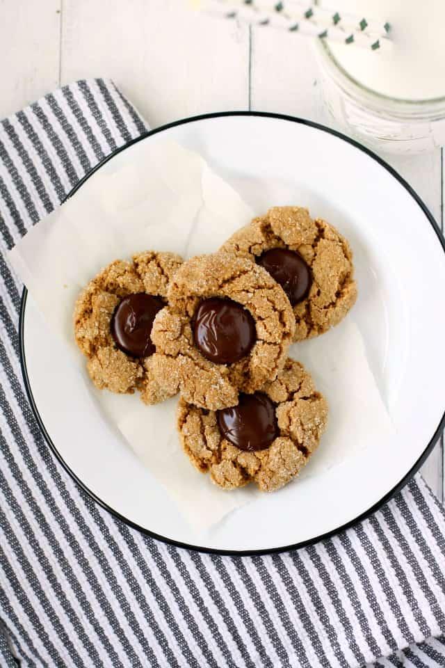 sunbutter blossom cookies