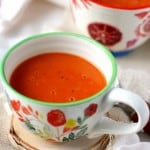 Creamy, comforting, delicious tomato soup made dairy free! This version is so much better than anything you can buy in the store!