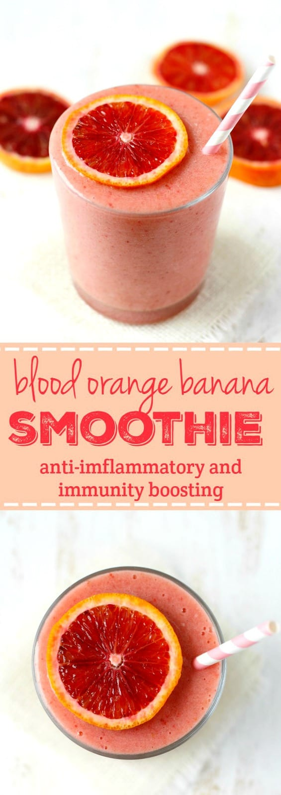Blood oranges are full of antioxidants and make this smoothie delicious!