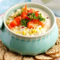 Delicious dairy free creamy corn dip