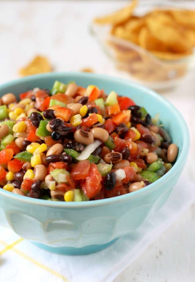 Texas caviar is the perfect dip to dig into on Super Bowl Sunday!