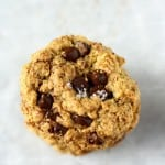Chewy oatmeal cookies are loaded with chocolate chips, chocolate shavings, and topped with flaky sea salt. A delicious cookie recipe that all will love!
