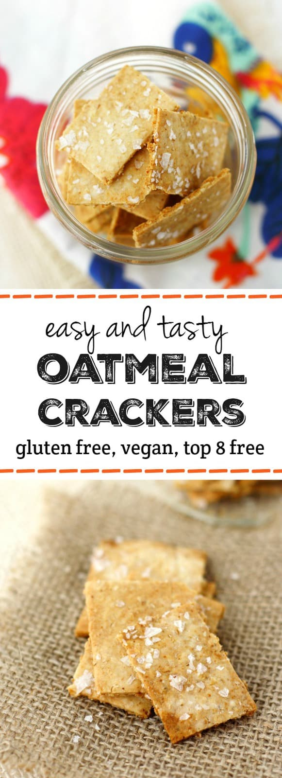 Facile e deliziosa ricetta croccante, croccante senza glutine cracker. Questa ricetta è così gustosa e molto più economica dei cracker acquistati dal negozio!