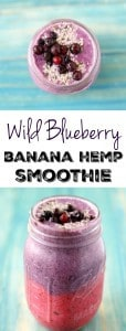 This wild blueberry banana smoothie has two delicious and beautiful layers for a smoothie that's a treat for the eyes and your tastebuds!