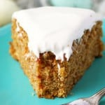 An easy recipe for vegan and gluten free carrot cake. This lightly spiced cake is topped with a sweet dairy free cream cheese frosting.