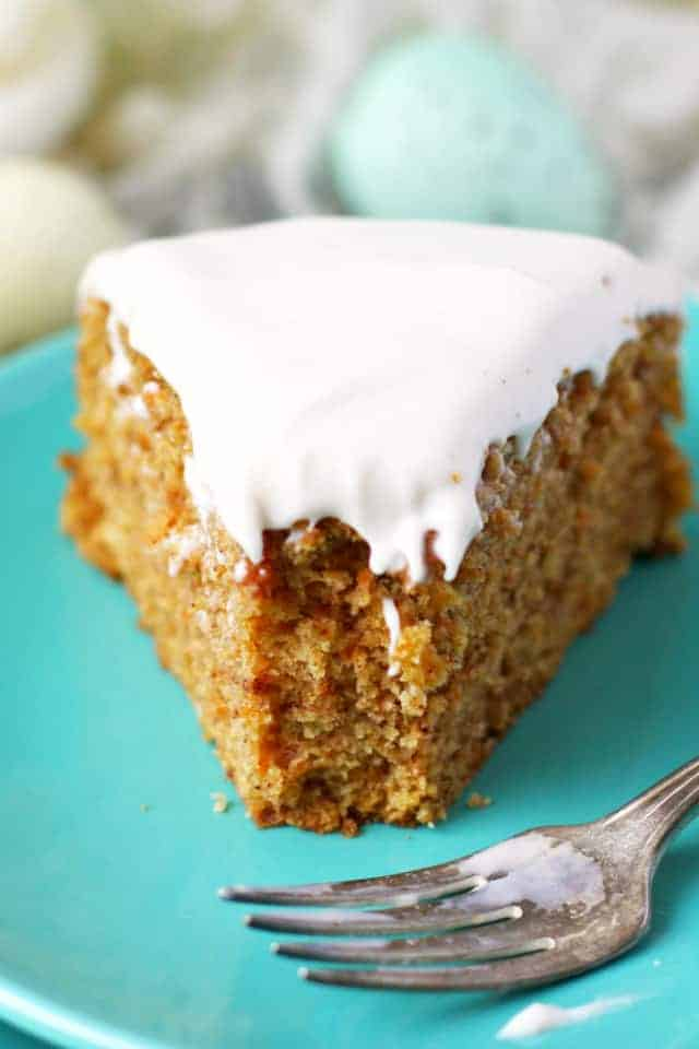 gluten free vegan carrot cake with cream cheese frosting