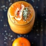 A healthy and tasty citrus mango smoothie that's full of vitamins A and C, plus lots of fiber and antioxidants!